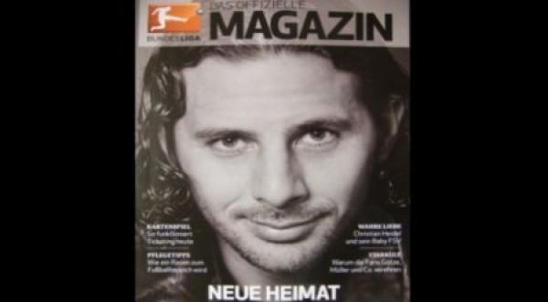 Pizarro en portada de la revista Bundesliga
