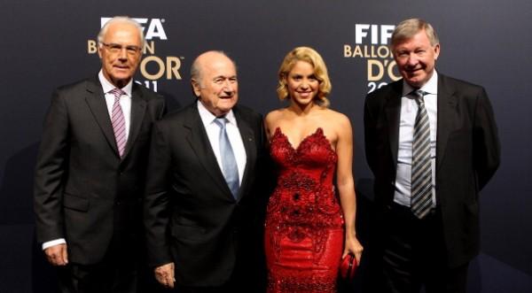 Shakira asistió a la gala del Balón de Oro