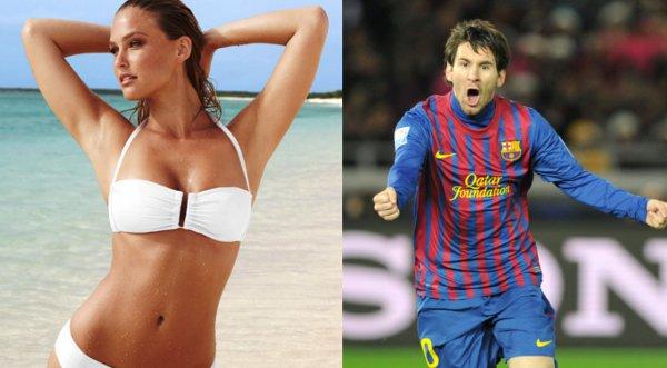 Una diosa tras Lionel Messi