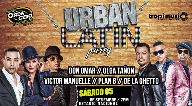 ¡Onda Cero te invita al Urban Latin Party, este 5 de setiembre!