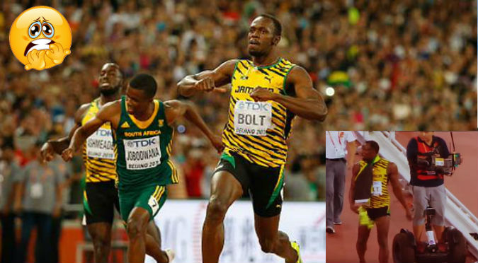 ¡Nooo! Camarógrafo atropelló a Usain Bolt y parece que… - VIDEO