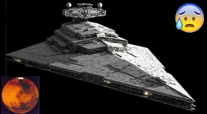 ¿Nave de 'Star Wars'? Foto de supuesta nave extraterrestre en Marte se vuelve viral