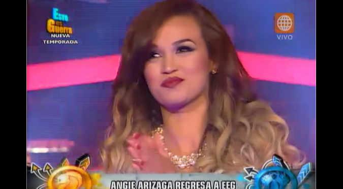 ¡Era de esperarse! Angie Arizaga regresó a 'Esto es Guerra' - VIDEO