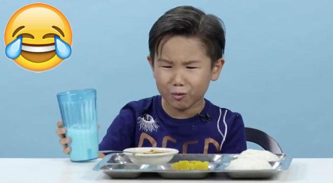 ¿Les gustó? Divertidas reacciones de niños al probar comidas de todo el mundo – VIDEO