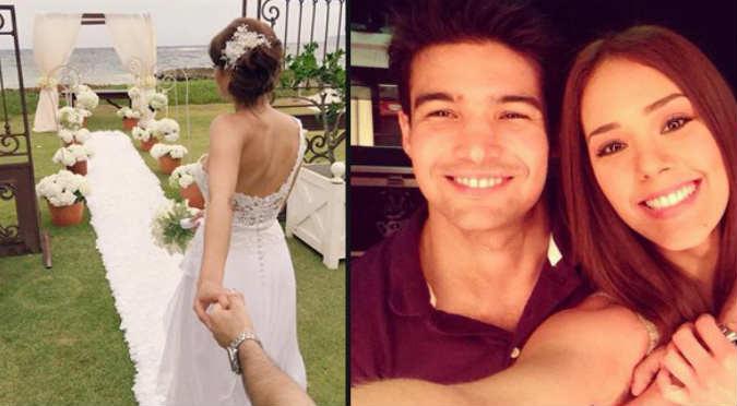 ¡Felicidades! Karen Schwarz y Ezio Oliva se casaron en Punta Cana