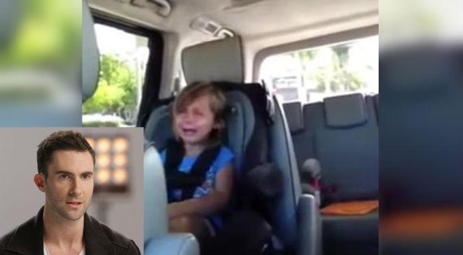 ¡Se puso triste! Pequeña se enteró que Adam Levine está casado – VIDEO