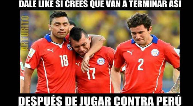 ¡Jajaja!¡Mira los creativos memes del Perú vs. Chile! - FOTOS
