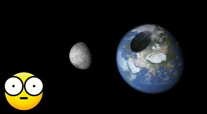 ¡Alucinante! Esto es lo que pasaría si la Tierra choca con la Luna – VIDEO