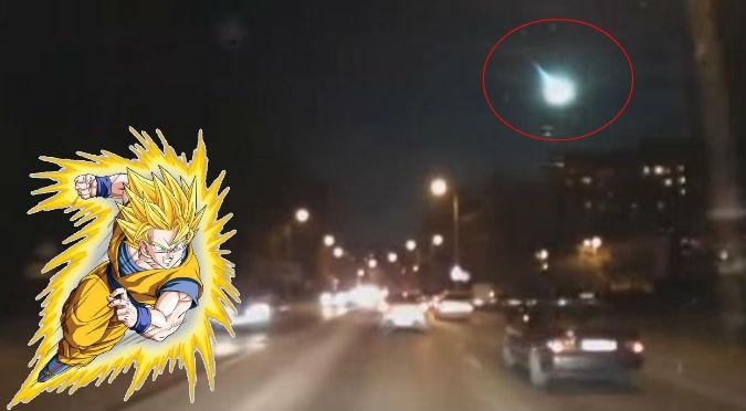 ¿Gokú eres tú? Misteriosa luz aparece en cielo ruso - VIDEO