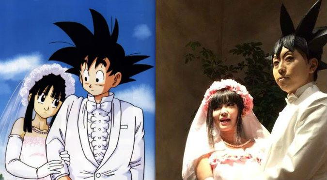 ¡Alucinante! Pareja se casó con los trajes matrimoniales de Gokú y Milk – FOTOS