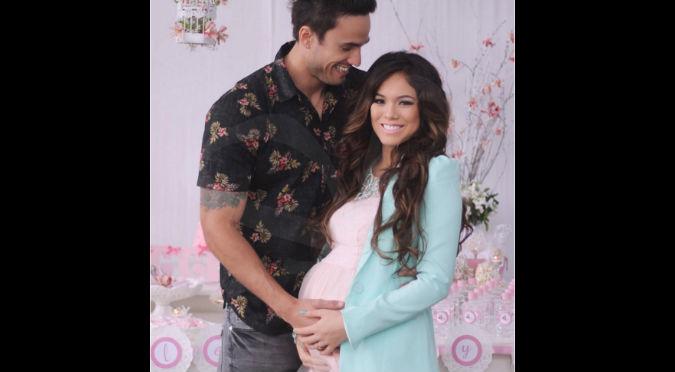 ¡Bienvenida Khaleesi! Jazmín Pinedo y Gino Assereto a pocas horas de conocer a su bebé