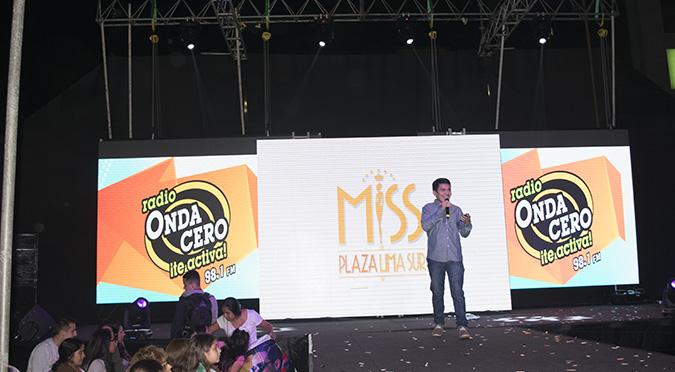 Onda Cero estuvo en la final del Miss Plaza Lima Sur