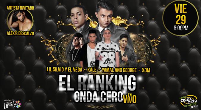 ¡Onda Cero presenta el Ranking de Onda Cero en vivo!