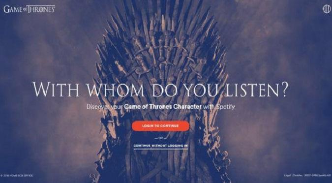 Game of Thrones: Entérate qué personaje eres según Spotify