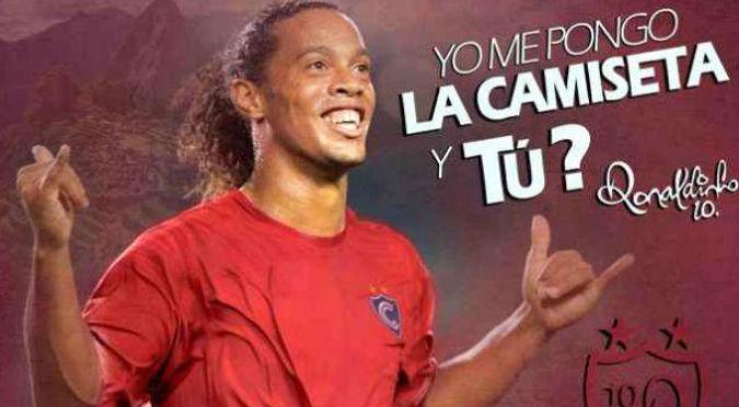 ¡Se hizo realidad! Esta es la fecha en que Ronaldinho llegará a jugar por Cienciano