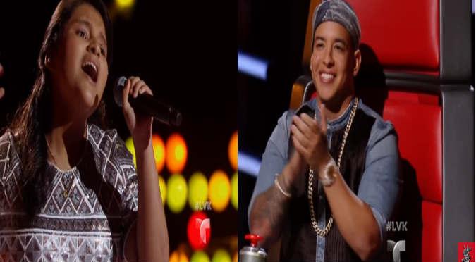 ¡Felicidades! Peruana la rompe en 'La Voz Kids' y es la favorita de Daddy Yankee (VIDEO)