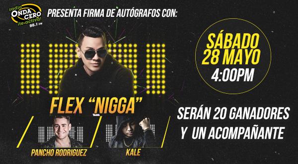 ¡Onda Cero te invita a la firma de autógrafos con Nigga, Kale y Pancho Rodríguez!