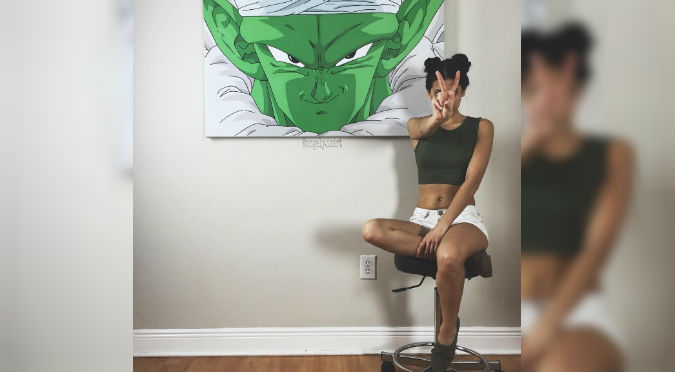 ¡Sexy Dragon Ball! Bella fan de la serie causa furor con sus pinturas – FOTOS
