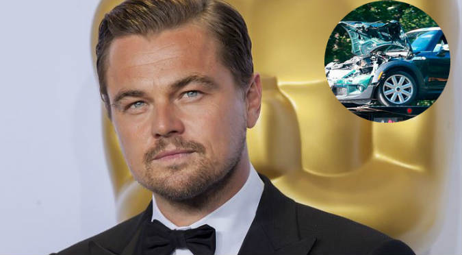 ¡Lamentable! Leonardo DiCaprio sufrió terrible accidente automovilístico (FOTOS)