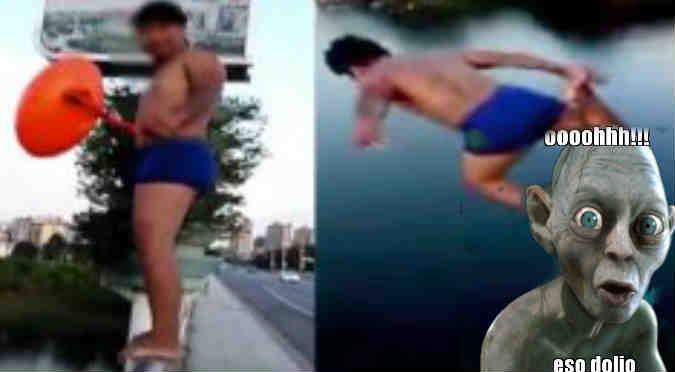 YouTube: Imitó a clavadista olímpico y esta fue su fatal caída