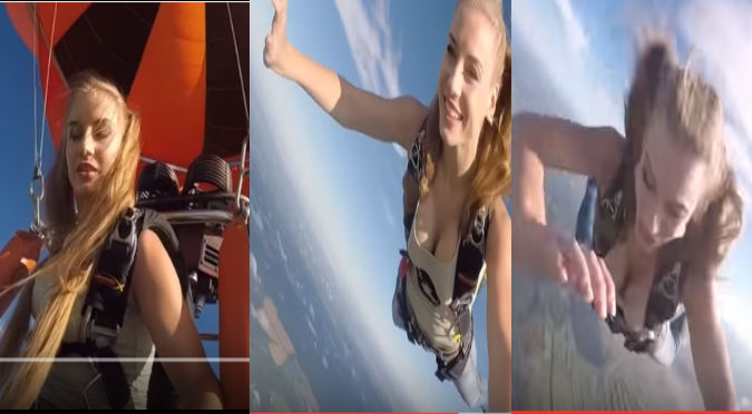 YouTube: Realizaba el salto en paracaídas más sexy  y esto pasó