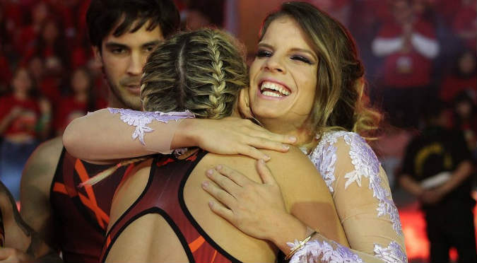 ¡Otra cosa! Así fue la gran bienvenida de 'Combate' a Alejandra Baigorria (VIDEO)
