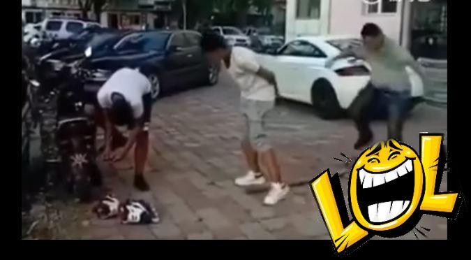 YouTube: Quiso hacerle una broma pesada, pero terminó siendo la víctima