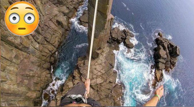 YouTube: Caminó sobre una cuerda a 35 metros de altura y este fue el trágico resultado