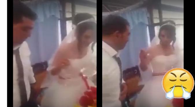 YouTube: Le hace pesada broma en plena boda y reaccionó  de la peor manera