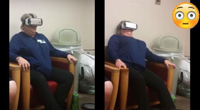 YouTube: Usó lentes de realidad virtual  por primera vez y no creerás cómo reaccionó