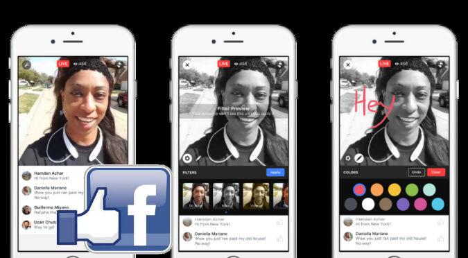Facebook:  Ahora tus videos en vivo tendrán estos filtros
