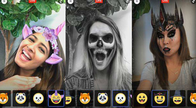Facebook: Transmite tu video en vivo con estos filtros más aterradores para Halloween