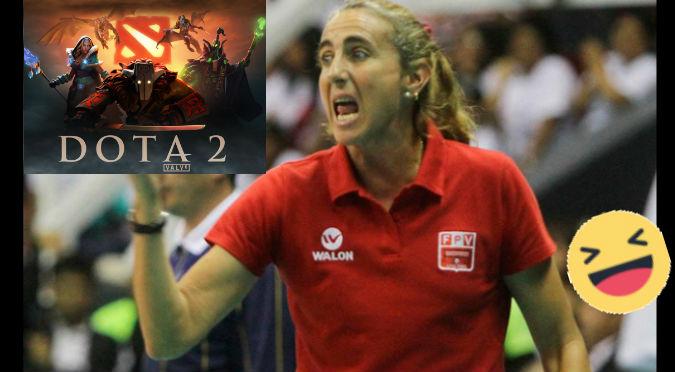 ¡Fiel a su estilo! Natalia Málaga alentó al equipo peruano de Dota  - VIDEO