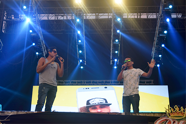 Ozuna y Panchito R estuvieron en el festival