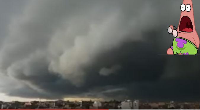 YouTube: Nubes 'apocalípticas' aterroriza en Chiclayo
