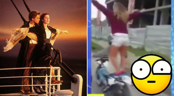 YouTube: Joven imitó escena de 'Titanic' ¿Qué pasó después?