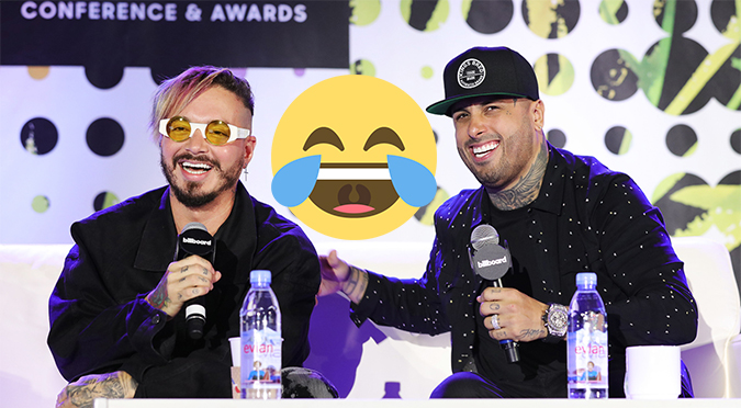 ¡Qué feo! Nicky Jam y J Balvin se burlan de Justin Bieber