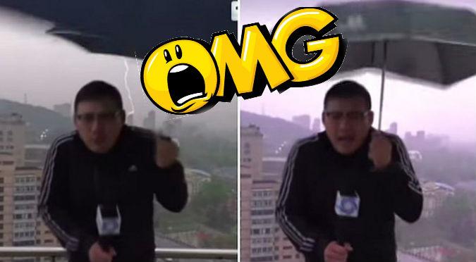 YouTube: Tremendo rayo impacta a reportero ¡en vivoo!