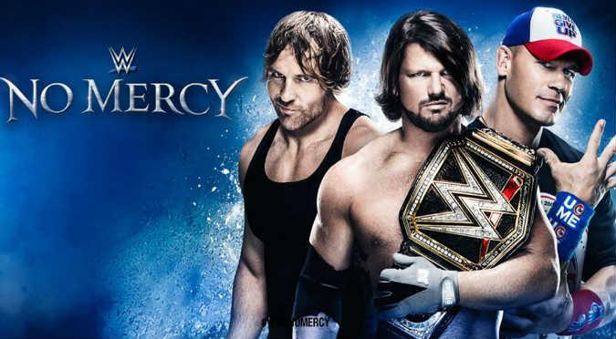 ¡Genial! WWE anunció que No Mercy se celebrará en esta fecha