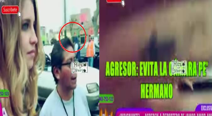 ¡Qué fuerte! ¿Reportero de 'Peluchín' habría sido agredido por orden de chico reality? (VIDEO)