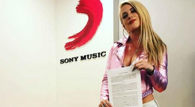 ¡Qué bueno! Leslie Shaw firmó con Sony Music (VIDEO)