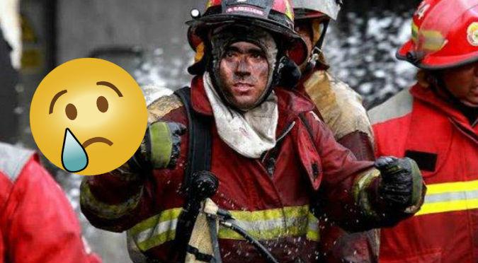 ¡Muy conmovedor! Esta es la foto de bomberos peruanos de la que todos hablan