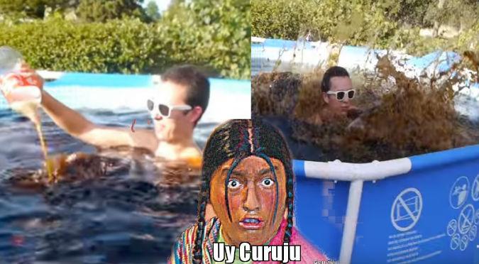 YouTube: ¿Qué pasa si llenas tu piscina con Coca Cola?