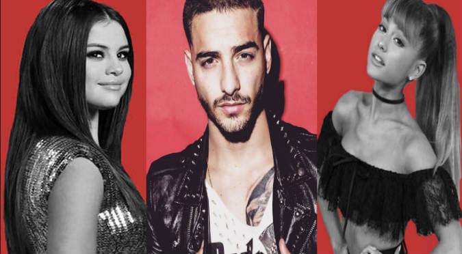 ¿Quiere con ellas? Maluma manda tremenda indirecta a  Selena Gomez y Ariana Grande