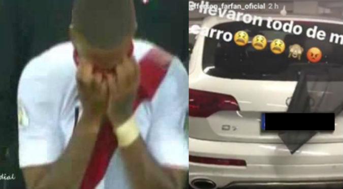 ¡No puede ser! Así quedó el carro de Jefferson Farfán luego que quisieran robarlo (VIDEO)
