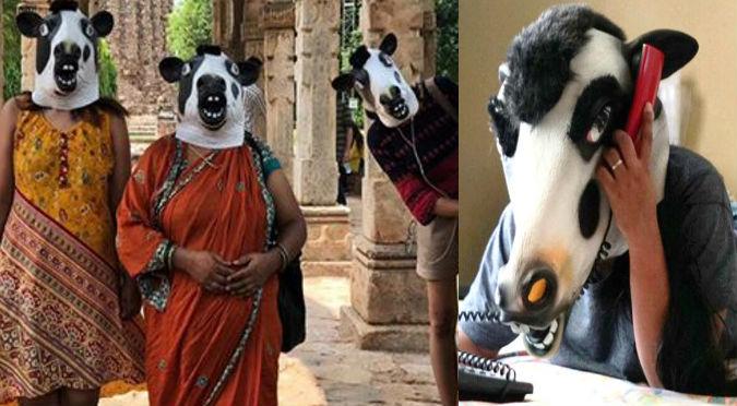 Viral: ¿Por qué en la India usan máscaras de vacas?