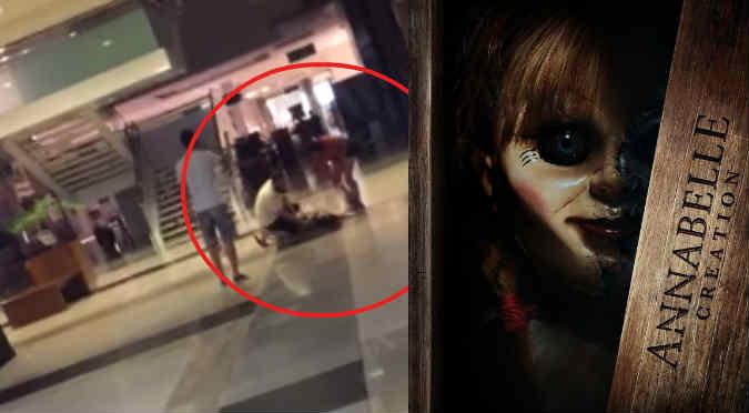 YouTube: ¡Terminó poseída tras ver Annabelle en el cine!