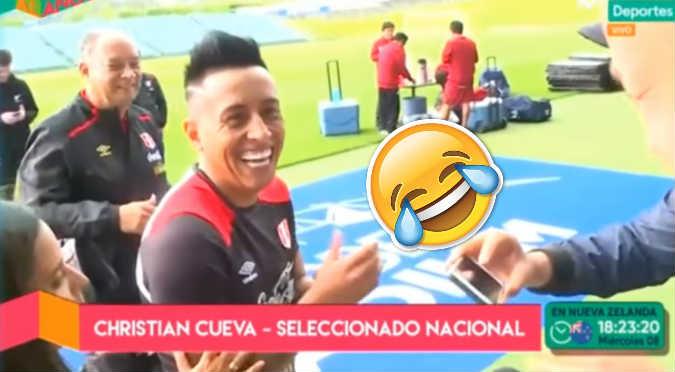 Christian Cueva troleó a periodista en Nueva Zelanda (VIDEO)