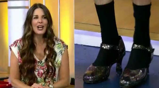 Federico Salazar y Verónica Linares cumplieron su apuesta en vivo (VIDEO)