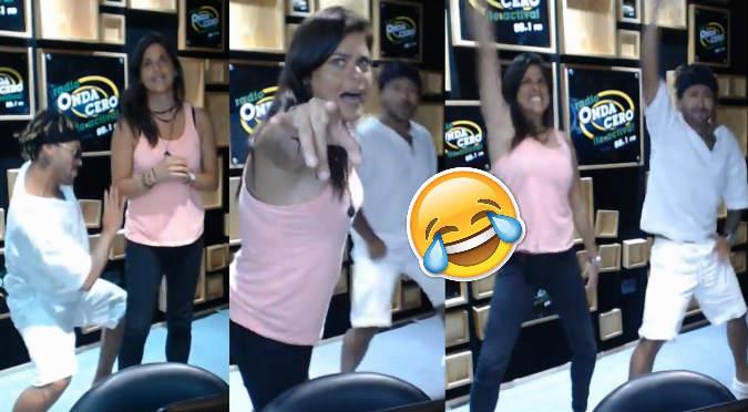 Giovanna Valcárcel y Zumba hicieron bailar a todos en cabina de Onda Cero (VIDEO)